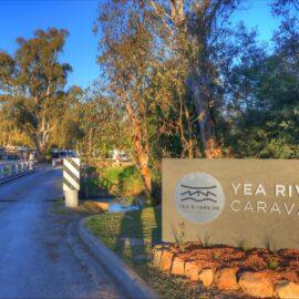 Yea Riverside Caravan Park entrance